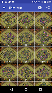screenshot of Maps of Coc TH9 version 1.0.8
