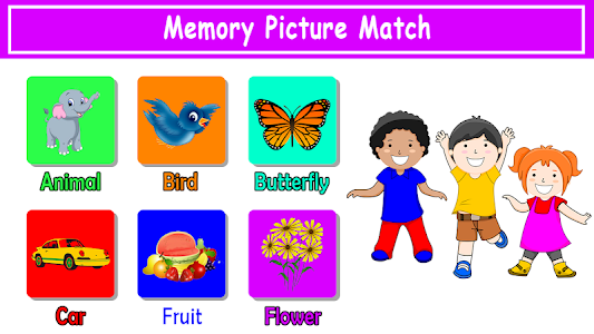 screenshot of Memory Game. Picture Match version 1.0