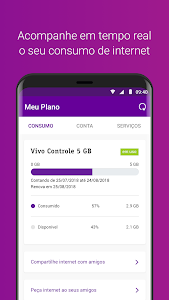 screenshot of Meu Vivo Móvel version 10.5.34