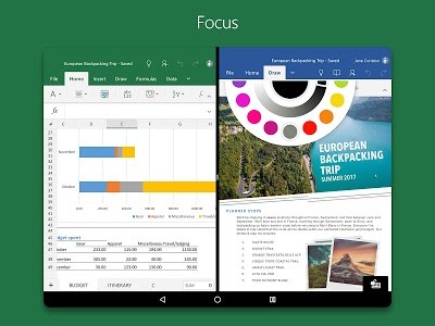 screenshot of Microsoft Excel version Varies with device