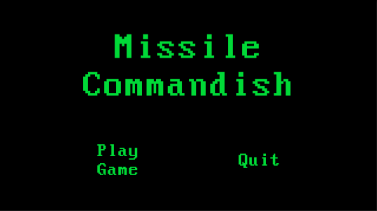 screenshot of Missile Commandish version 1.0.15