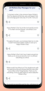 screenshot of Mother's Day 2019 SMS Messages, Wishes version 1.0.0