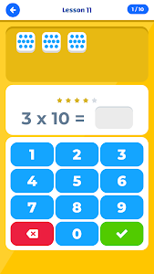 screenshot of Multiplication Table IQ / Times Tables version 1.2.1
