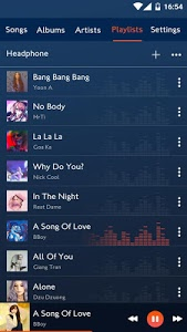 screenshot of Music player version 2.0