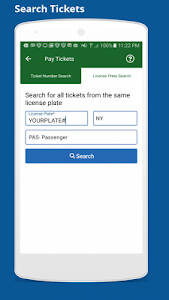 screenshot of NYC Parking Ticket Pay or Dispute version 2.5
