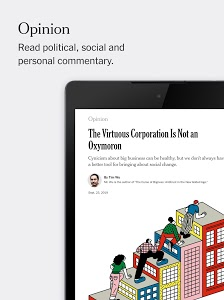 screenshot of The New York Times version Varies with device