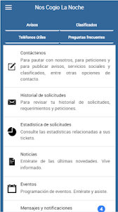 screenshot of Nos Cogió la Noche APP version 0.0.16