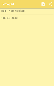screenshot of Notepad for android version 1.0