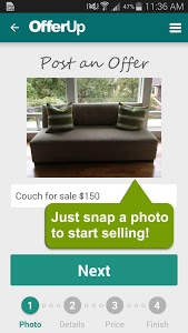 screenshot of OfferUp - Buy. Sell. Offer Up version 1.6.0