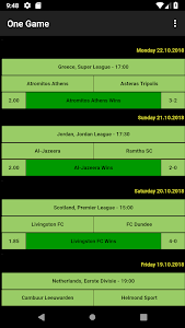 screenshot of One Game Betting Tips version 1.6