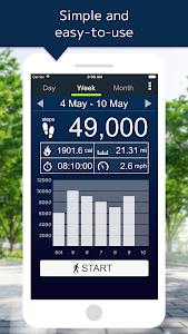 screenshot of Pedometer version 5.27