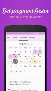 screenshot of Period & Ovulation Tracker version 3.1