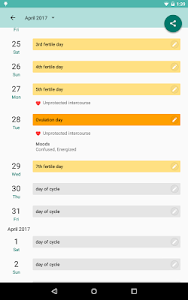 screenshot of Period and Ovulation Tracker, Menstrual Cycle App version 6.2