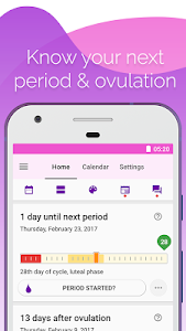 screenshot of Period and Ovulation Tracker version Varies with device