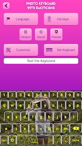 screenshot of Photo Keyboard with Emoticons version 2.5
