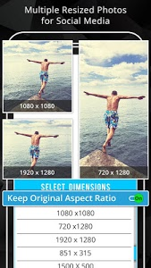screenshot of Photo Resizer: Crop, Resize, Share Images in Batch version 1.7