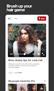 screenshot of Pinterest version Varies with device