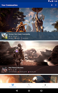 screenshot of PlayStation Communities version Varies with device