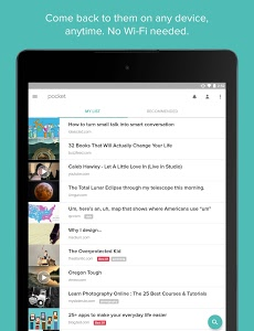 screenshot of Pocket version 6.1.1.0
