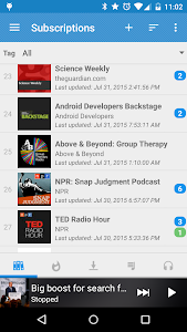 screenshot of Podcast Republic version 2.6.11