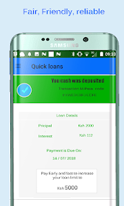 screenshot of Quick - M loans version 8.sa2.12