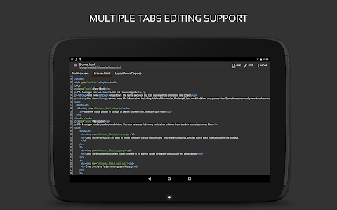 screenshot of QuickEdit Text Editor - Writer, Code Editor version 1.4.3