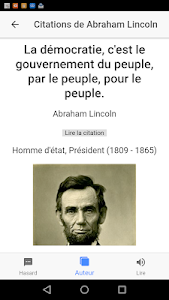 screenshot of Quotes from leaders ! version 0.0.1
