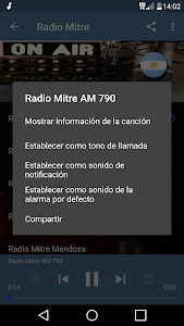 screenshot of Radio Mitre AM 790 Buenos Aires en vivo ARGENTINA version 1.02