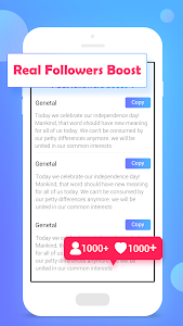 screenshot of Real Followers & Likes Boost version 3.6.2