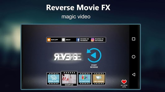 screenshot of Reverse Movie FX - magic video version Varies with device