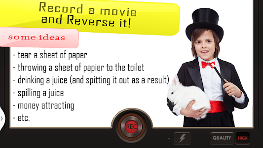 screenshot of Reverse Movie FX - magic video version 1.3.9.1