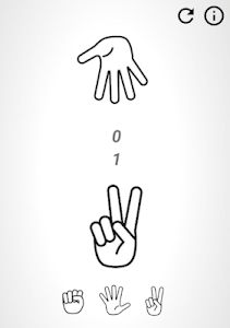 screenshot of Rock Paper Scissors version 1.0