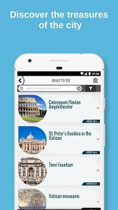 screenshot of ROME City Guide, Offline Maps, Tours and Hotels version 1.29.15