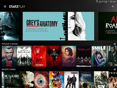 screenshot of STARZ PLAY | Movies & TV shows version 4.0.2.2018.09.17