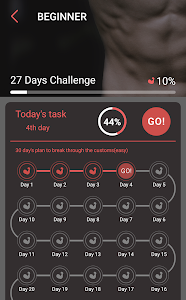 screenshot of Six Packs for Man–Body Building with No Equipment version 1.0.5