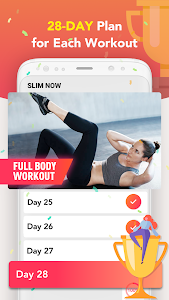 screenshot of Slim NOW 2019 - Weight Loss Workouts version 1.1.8