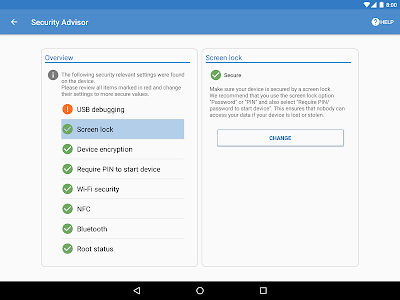 screenshot of Sophos Mobile Security version 9.0.3000