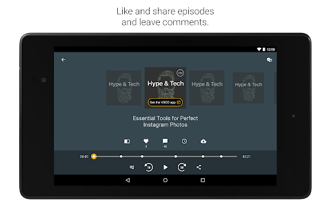 screenshot of Spreaker Podcast Radio version 4.9.5
