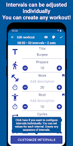 screenshot of Tabata Timer: Interval Timer Workout Timer HIIT version Varies with device