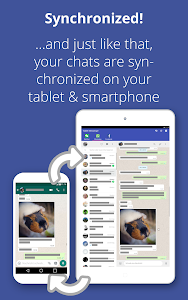 screenshot of Tablet Messenger version Varies with device