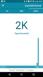screenshot of TapCounter version 1.2.5