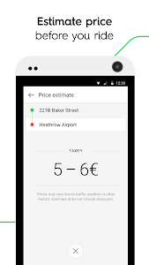 screenshot of Taxify version CA.4.40