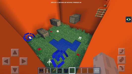 screenshot of The Orange parkour map for MCPE version 3.mcpe.maps.mine