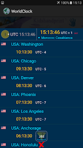 screenshot of The World Clock version 1.9