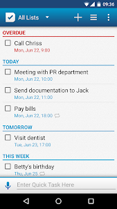screenshot of To Do List version 2.4.2