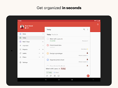 screenshot of Todoist: To-Do List, Tasks & Reminders version Varies with device
