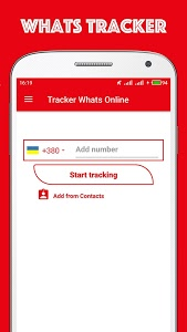 screenshot of Tracker Whats Online & Profile Monitor version 1.0