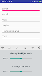 screenshot of Türkçe Klavye version 5.9.5