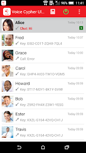 screenshot of Verizon Voice Cypher Ultra version 3.81.13.556