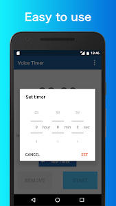 screenshot of Voice Timer - Tell you time with voice! version 1.2